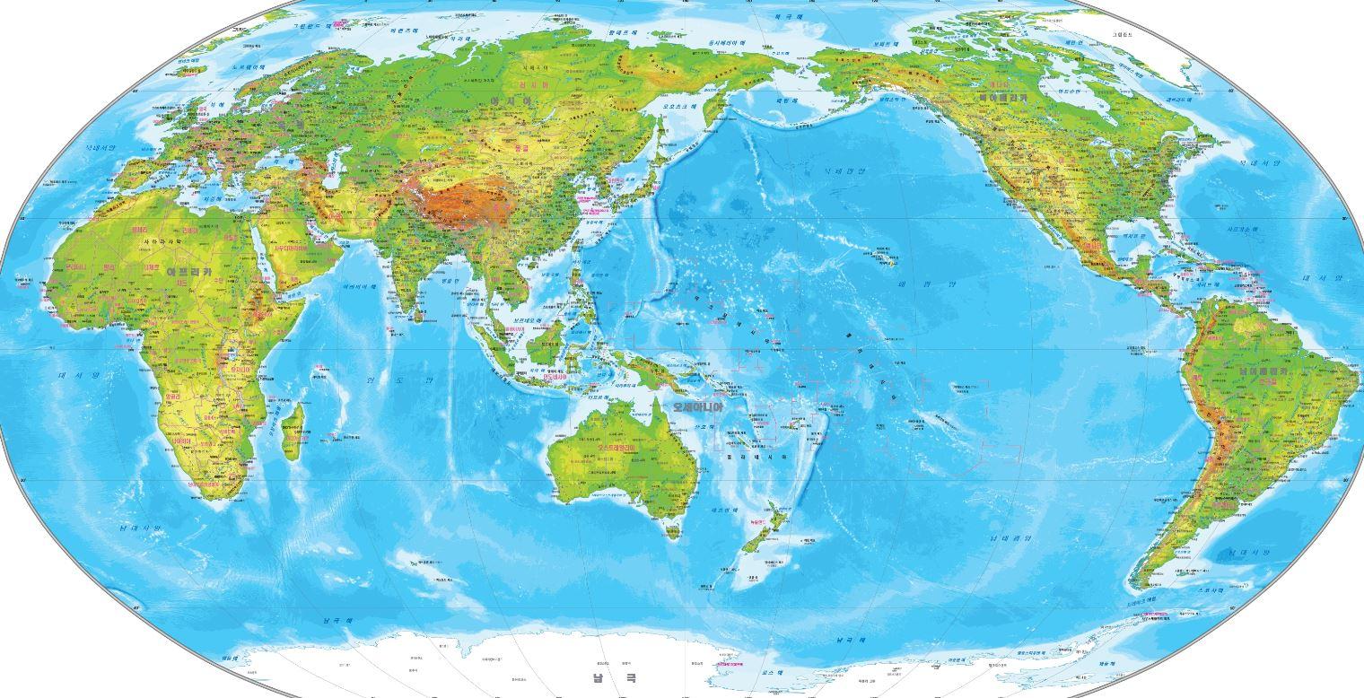 세계지도 및 대한민국 주변도 서비스