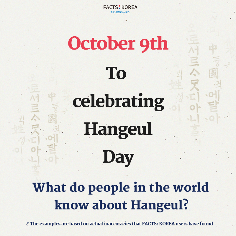 What do people in the world know about Hangeul?
