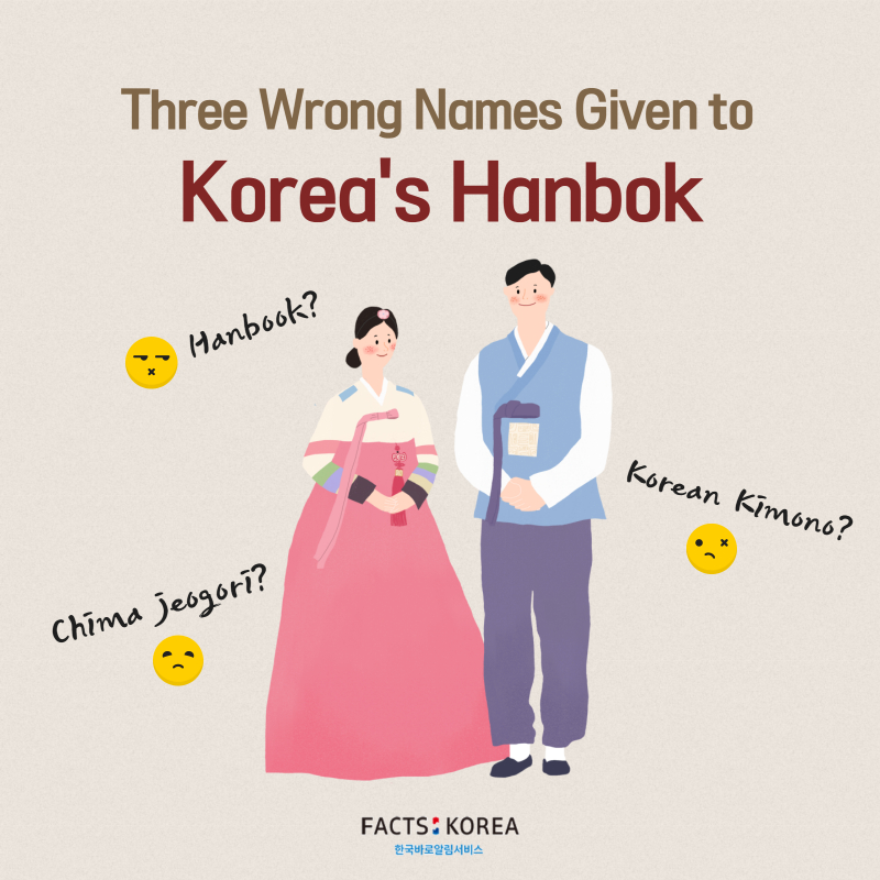 Three wrong names given to Korea's Hanbok