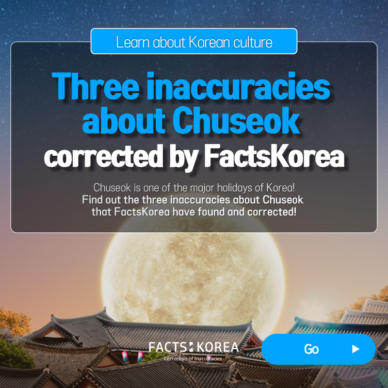 Three inaccuracies about Chuseok