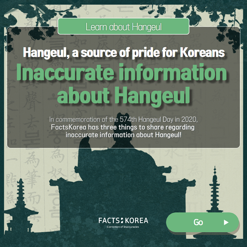 Inaccurate information about Hangeul